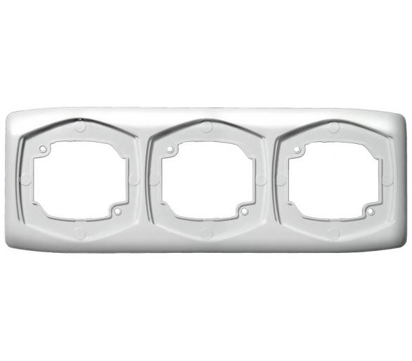 Ramka potrójna pozioma biały Ton R-3CH/00