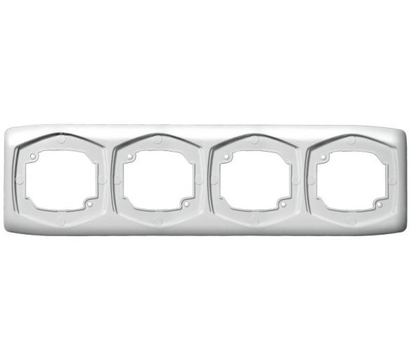 Ramka poczwórna pozioma biały Ton R-4CH/00