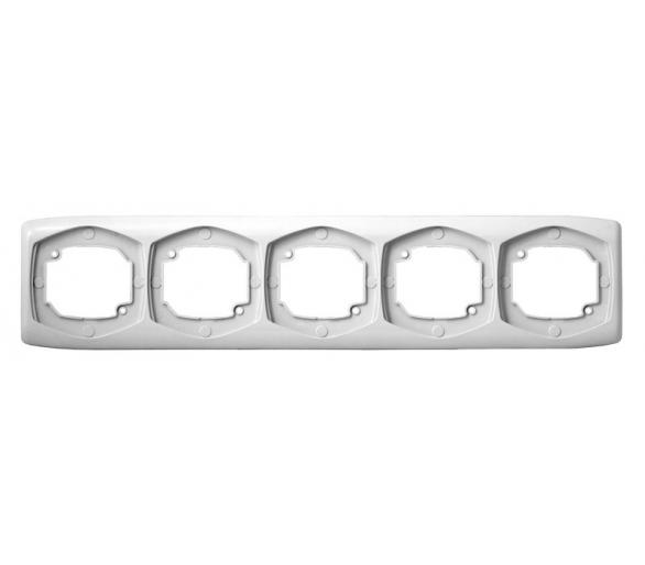 Ramka pięciokrotna pozioma biały Ton R-5CH/00
