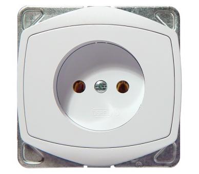 Gniazdo pojedyncze biały Ton color system GP-1C/m/00