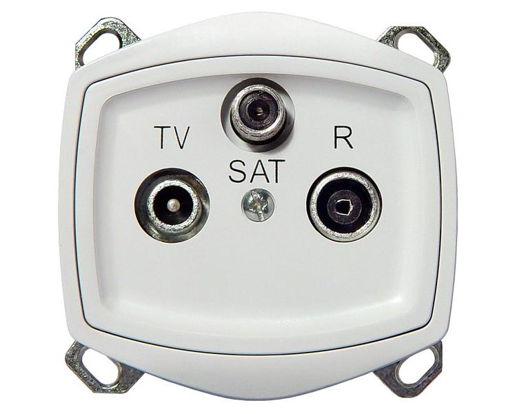 Gniazdo RTV-SAT biały Ton color system GPA-CS/m/00