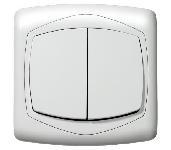 Łącznik dwugrupowy świecznikowy biały Ton color system ŁP-2C/m/00
