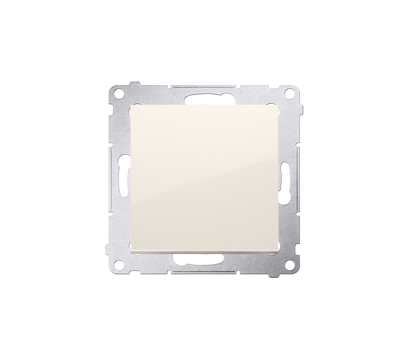 Łącznik uniwersalny - schodowy (moduł) 10AX 250V, szybkozłącza, kremowy