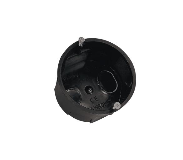Puszka instalacyjna podtynkowa czarna z wkrętami A.0002 Pawbol