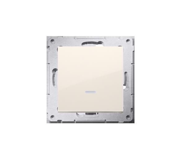 Łącznik jednobiegunowy z podświetleniem LED (moduł) 10AX 250V, szybkozłącza, kremowy