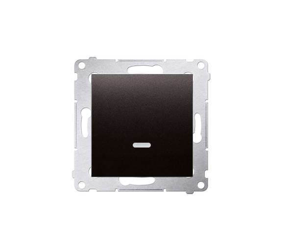 Łącznik jednobiegunowy z podświetleniem LED (moduł) 10AX 250V, szybkozłącza, antracyt, metalizowany