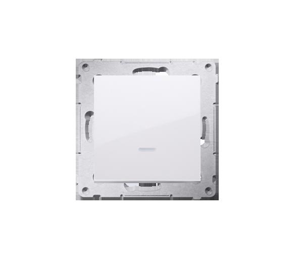 Łącznik jednobiegunowy z podświetleniem LED (moduł) 16AX 250V, zaciski śrubowe, biały