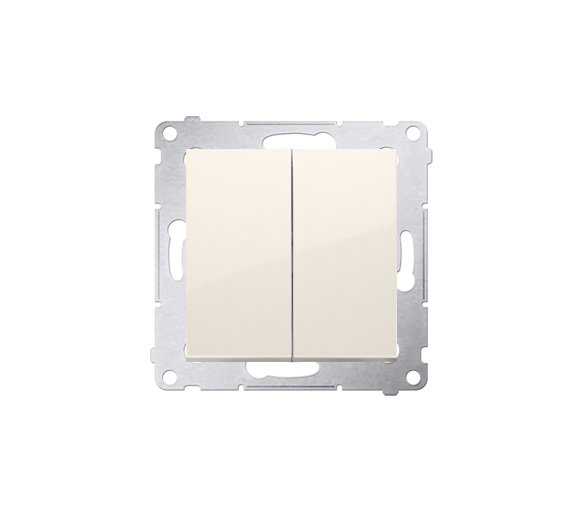 Łącznik świecznikowy (moduł) 16AX 250V, zaciski śrubowe, kremowy DW5A.01/41