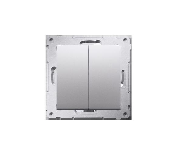 Łącznik świecznikowy (moduł) 16AX 250V, zaciski śrubowe, srebrny mat, metalizowany DW5A.01/43