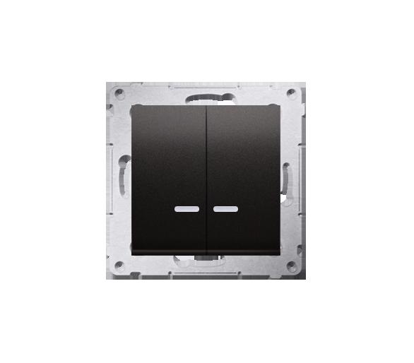 Łącznik świecznikowy z podświetleniem LED do wersji IP44 (moduł) 10AX 250V, szybkozłącza, antracyt, metalizowany DW5BL.01/48
