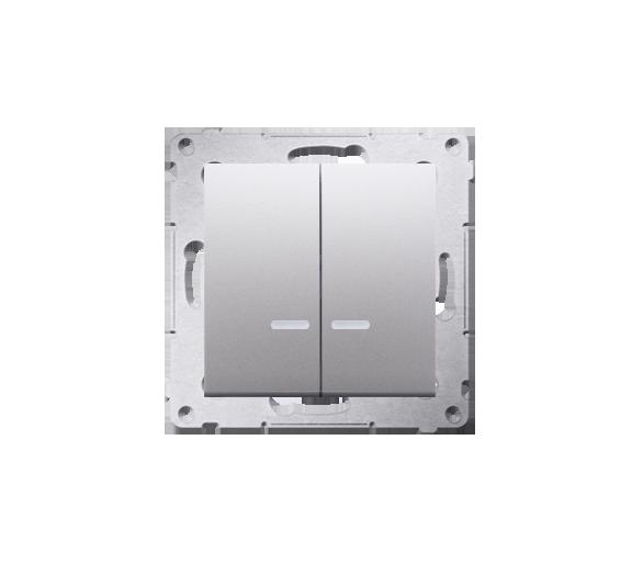 Łącznik świecznikowy z podświetleniem LED do wersji IP44 (moduł) 16AX 250V, zaciski śrubowe, srebrny mat, metalizowany DW5ABL.01