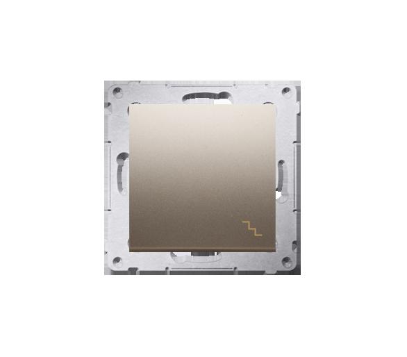 Łącznik schodowy (moduł) 10AX 250V, szybkozłącza, złoty mat, metalizowany DW6.01/44
