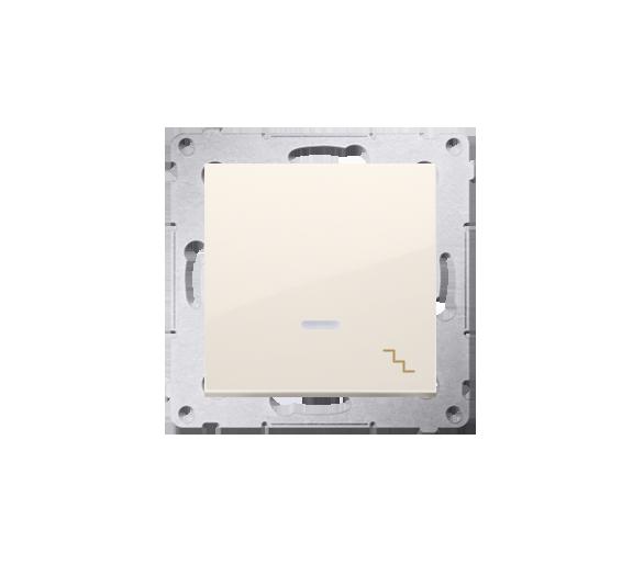 Łącznik schodowy z podświetleniem LED (moduł) 10AX 250V, szybkozłącza, kremowy DW6L.01/41