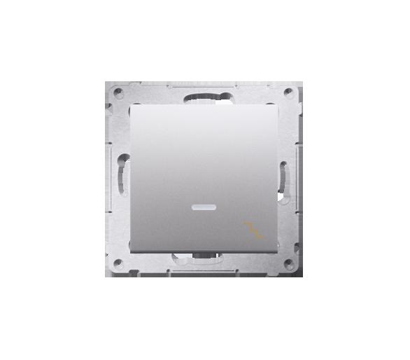 Łącznik schodowy z podświetleniem LED (moduł) 10AX 250V, szybkozłącza, srebrny mat, metalizowany DW6L.01/43