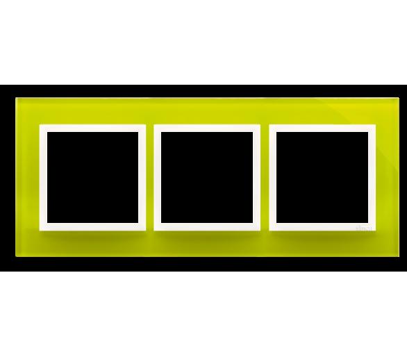 Ramka 3-krotna szklana limonkowy sorbet DRN3/90