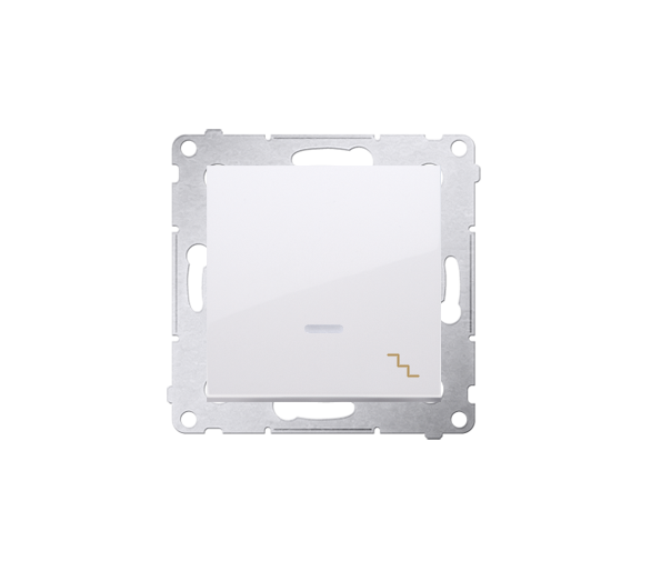 Łącznik schodowy z podświetleniem LED (moduł) 16AX 250V, zaciski śrubowe, biały DW6AL.01/11