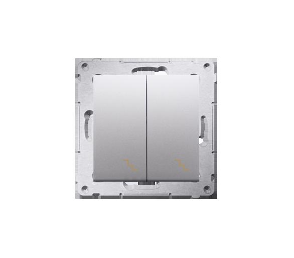 Łącznik schodowy podwójny (moduł) 10AX 250V, zaciski śrubowe, srebrny mat, metalizowany DW6/2.01/43