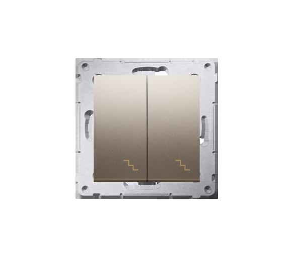 Łącznik schodowy podwójny (moduł) 10AX 250V, zaciski śrubowe, złoty mat, metalizowany DW6/2.01/44