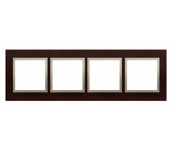 Ramka 4- krotna drewniana złote wenge DRN4/85
