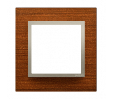 Ramka 1-krotna drewniana złoty orzech DRN1/86