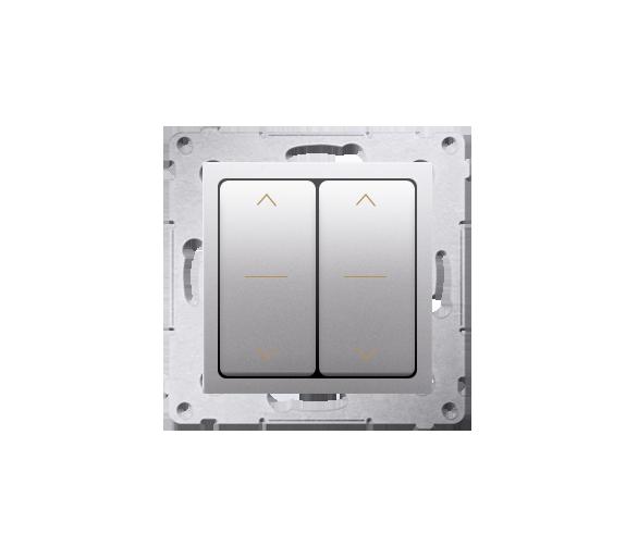 Łącznik żaluzjowy podwójny trójpozycyjny (1-0-2) srebrny mat, metalizowany 10A DZW2.01/43