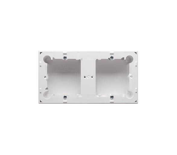Puszka natynkowa 2-krotna biały  do serii BASIC i CLASSIC MPN2/11