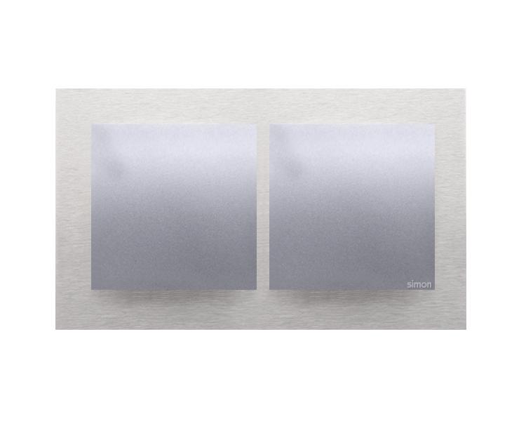 Ramka 2- krotna metalowa inox klasyczny DRN2/77