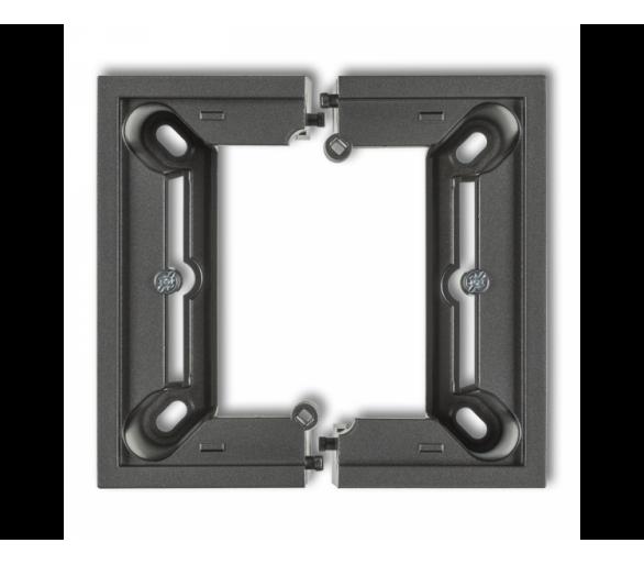 Puszka natynkowa pojedyncza, składana DECO i MINI grafitowy 11DPU-1