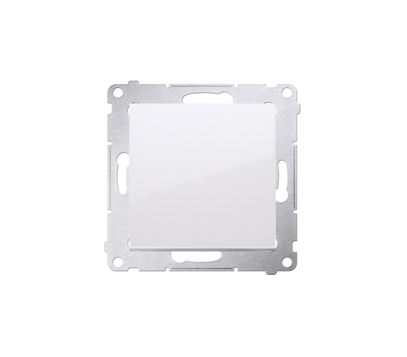 Przycisk pojedynczy zwierny bez piktogramu (moduł) 16AX 250V, zaciski śrubowe, biały DP1A.01/11