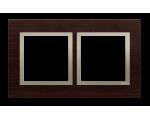 Ramka 2- krotna drewniana złote wenge DRN2/85