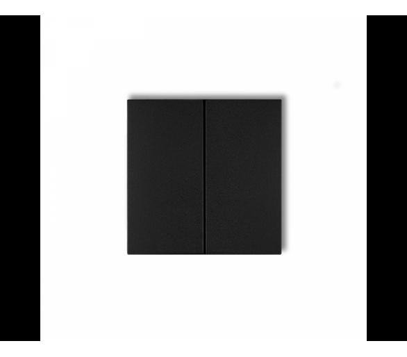 Klawisze podwójne do łączników DECO, FLEXI, MINI (komplet dwóch sztuk) czarny mat 12DKL-2