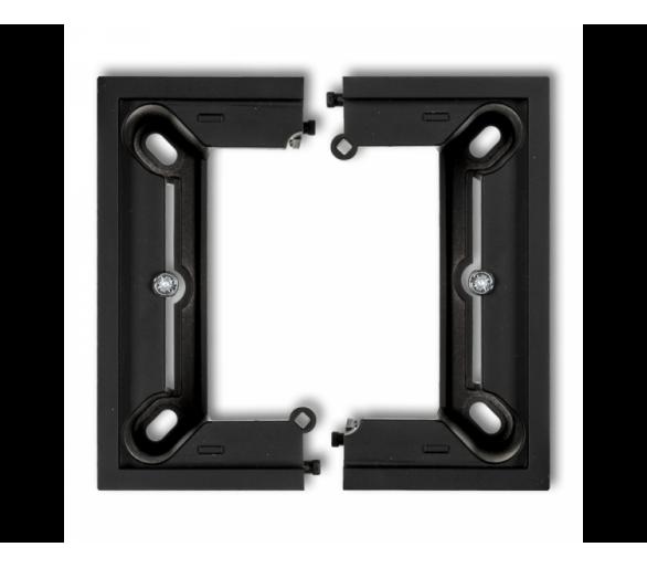 Puszka natynkowa pojedyncza, składana DECO i MINI czarny mat 12DPU-1
