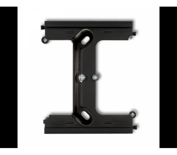 Moduł rozszerzający puszkę natynkową pojedynczą, składaną do ramek wielokrotnych DECO i MINI czarny mat 12DPU-2