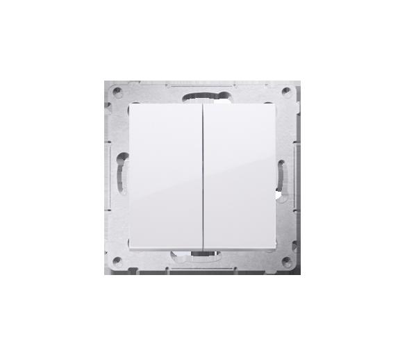 Przycisk podwójny zwierny bez piktogramu (moduł) 10AX 250V, szybkozłącza, biały DP2.01/11