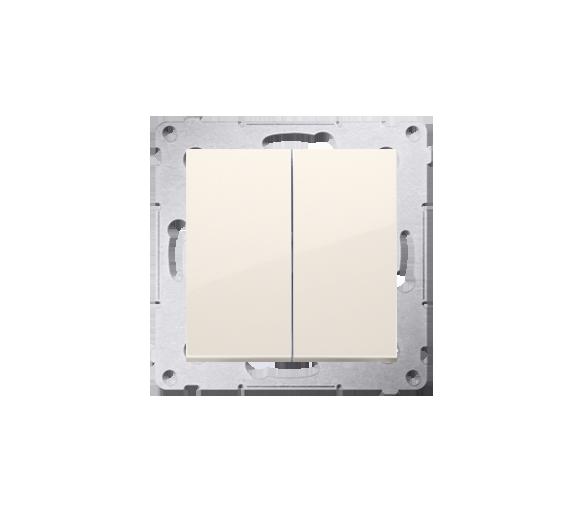 Przycisk podwójny zwierny bez piktogramu (moduł) 10AX 250V, szybkozłącza, kremowy DP2.01/41