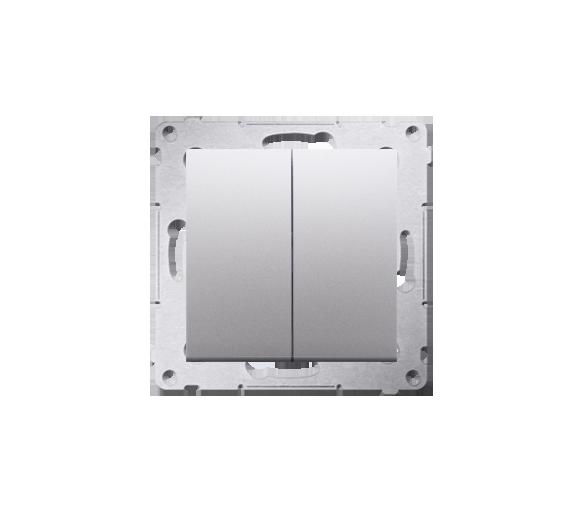 Przycisk podwójny zwierny bez piktogramu (moduł) 10AX 250V, szybkozłącza, srebrny mat, metalizowany DP2.01/43