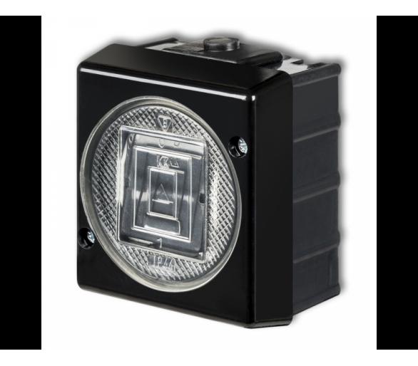 Łącznik jednobiegunowy podświetlany czarny 12WHS-1L