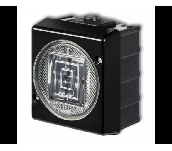 Łącznik świecznikowy podświetlany czarny 12WHS-2L