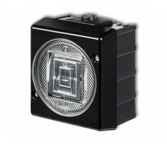 Łącznik zwierny światło podświetlany czarny 12WHS-5L