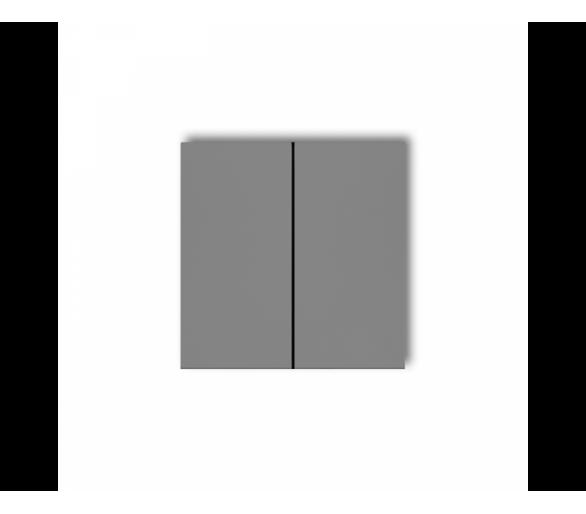 Klawisze podwójne do łączników DECO, MINI (komplet dwóch sztuk) szary mat 27DKL-2
