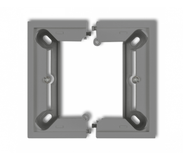 Puszka natynkowa pojedyncza, składana DECO i MINI szary mat 27DPU-1
