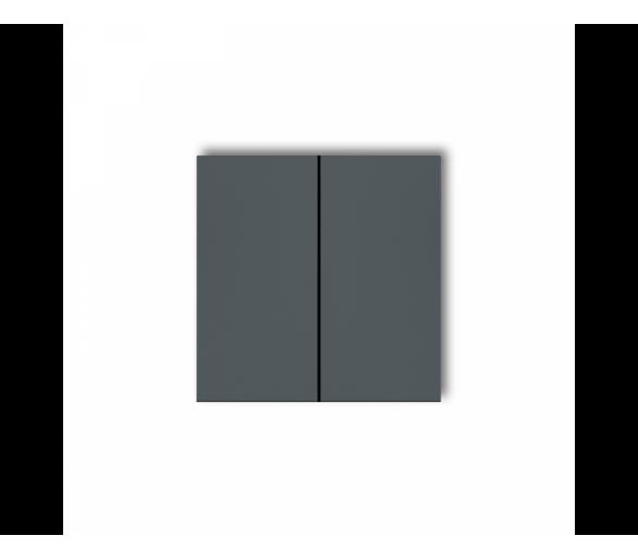 Klawisze podwójne do łączników DECO, MINI (komplet dwóch sztuk) grafitowy mat 28DKL-2