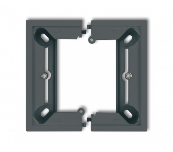 Puszka natynkowa pojedyncza, składana DECO i MINI grafitowy mat 28DPU-1