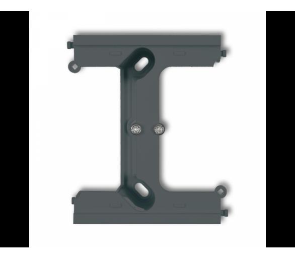 Moduł rozszerzający puszkę natynkową pojedynczą, składaną do ramek wielokrotnych DECO i MINI grafitowy mat 28DPU-2