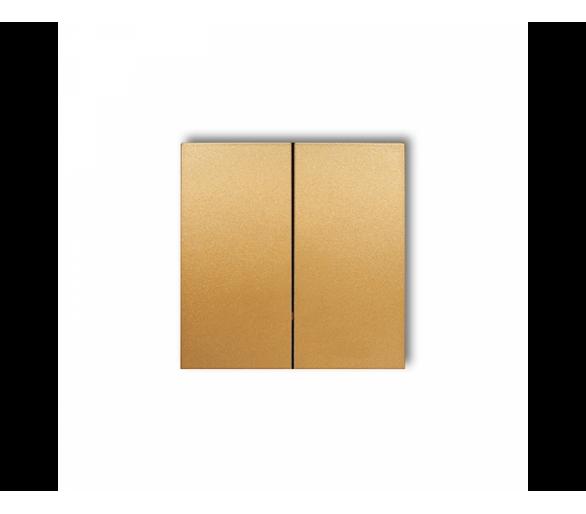 Klawisze podwójne do łączników DECO, MINI (komplet dwóch sztuk) złoty 29DKL-2