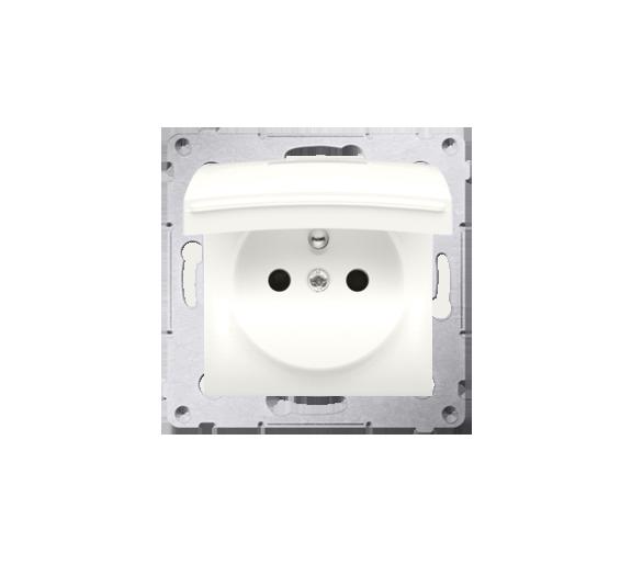 Gniazdo wtyczkowe pojedyncze do wersji IP44 - bez uszczelki - klapka w kolorze pokrywy do ramek Premium (moduł) 16A 250V, zacisk