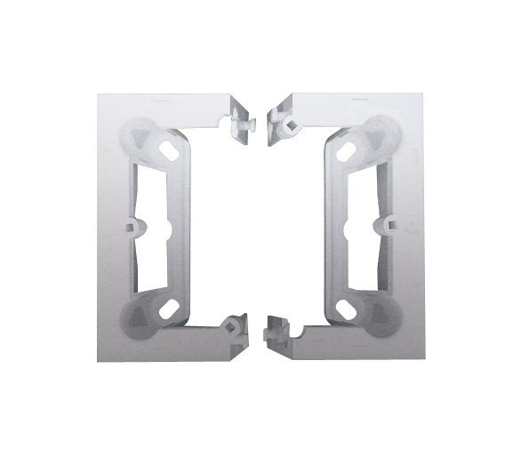 Puszka natynkowa składana, pojedyncza srebrny mat, metalizowany