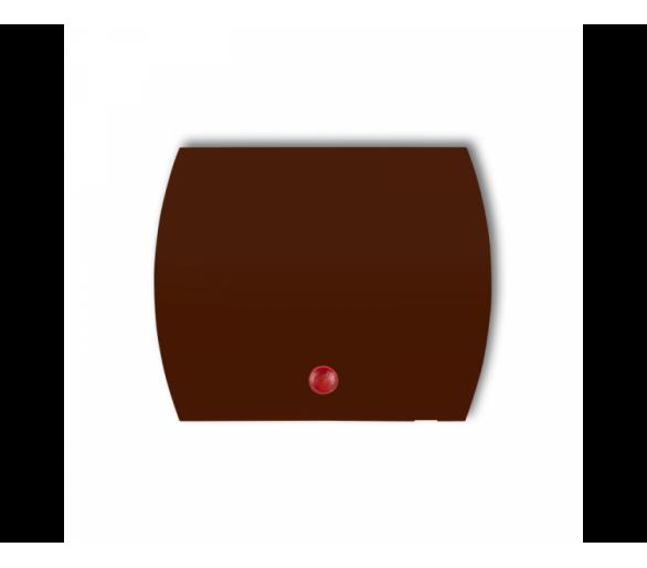 Klawisz z oczkiem do łączników serii TREND i LOGO brązowy 4KZO