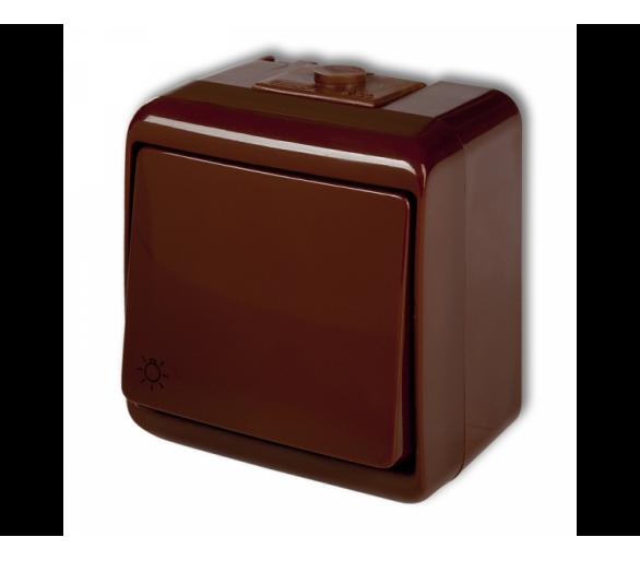 Łącznik zwierny światło podświetlany brązowy 4WHE-5L