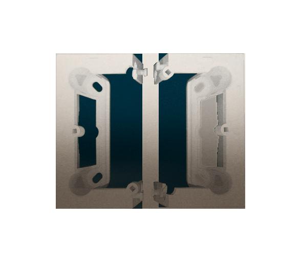 Puszka natynkowa składana, pojedyncza złoty mat, metalizowany